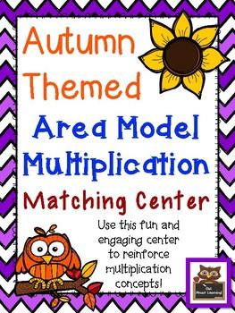 Area Model Multiplication Math Center FREEBIE!