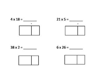 Area Model Multiplication Practice