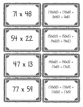 Area Model Multiplication Sort