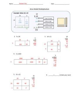 Area Model Multiplication Using Base 10 Blocks