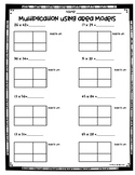 Area Model Multiplication Worksheets (3.NBT.2 and 4.NBT.5)