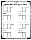 Area Model Multiplication Worksheets (3.NBT.2 and 4.NBT.5)