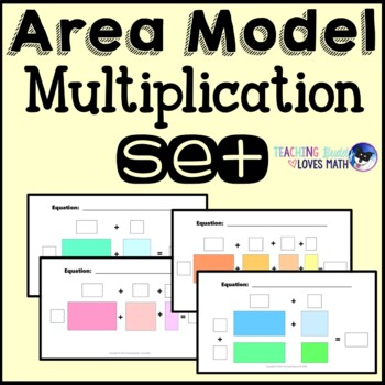 Area Model Multiplication Math Center Mega Pack 4th Grade