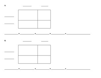 Area Model Multiplication (blank student work pages)