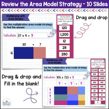 Area Model Multiplication for use with Google Apps