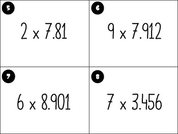 Area Model Multiplication with decimals