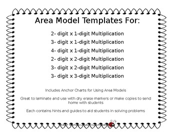 Area Model Placemats for Multi-digit Multiplication