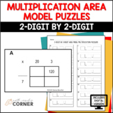Area Model Puzzles, 2-Digit by 2-Digit Multiplication: Pri