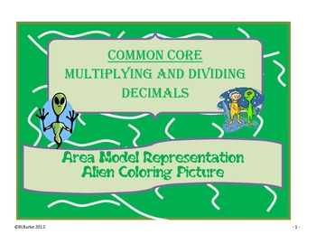 Differentiated CC Coloring Picture - Multiplying/Dividing