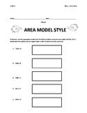 Area Model Style