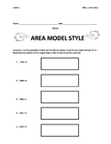 Area Model Style