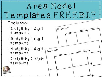 Area Model Templates FREEBIE