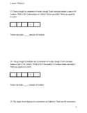 Area Model Word Problems modified and accommodating McGraw