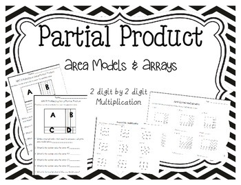 area model worksheets 2 digit by 2 digit by teaching with balls. Black Bedroom Furniture Sets. Home Design Ideas