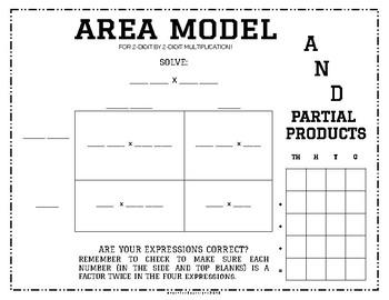 Area Model for 2-Digit x 2-Digit Multiplication