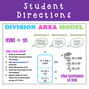 5th Grade Area Model for Division - CCSS Aligned - Distance Learning