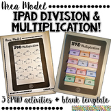 Area Model iPAD- Division and Multiplication- EDITABLE