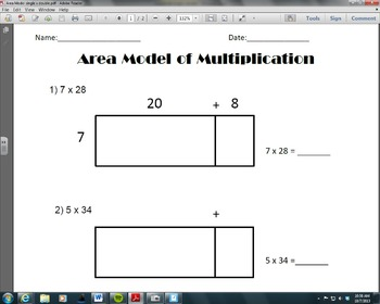 Area Model of Multiplication