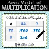 Area Model of Multiplication (Blank Worksheets)