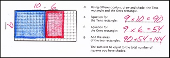 Area Model of Multiplication with Grids and Rectangles