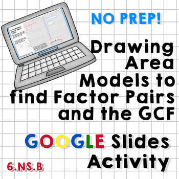 Area Models, Factor Pairs, and Greatest Common Factor Google Slides Activity