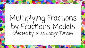 Area Models: Fractions x Fractions  (multiplying)