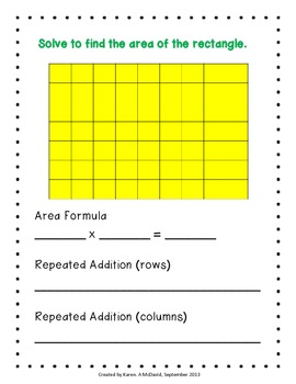 Area Models - Invitational Groups (Common Core)