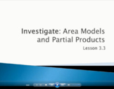 Area Models and Partial Products - Grade 4 Go Math Lesson
