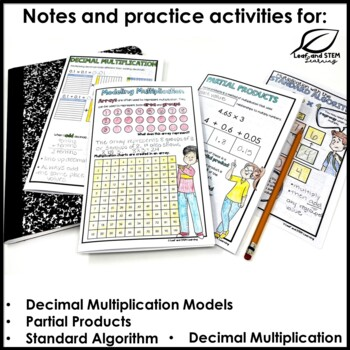 Area Model for Decimal Multiplication and Division Interactive Notebook Set