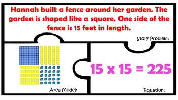 Area Models with Base Ten Blocks TEK 4.4C TEK 4.4D Multiplication