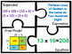 Area Multiplication 2 and 3 digit factors puzzles