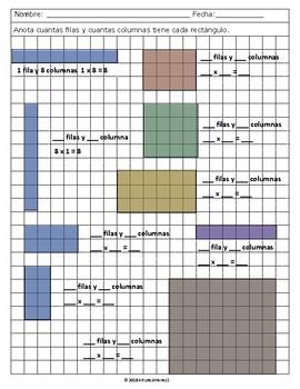 Area - Multiplication Arrays - Mult. en Matrices o Arreglos - Spanish