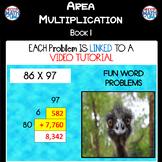 Area Multiplication: Book 1 - 2 x 2 Digit (ie: 86 x 97)