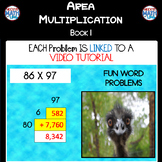 Area Multiplication: Book 1 - 2 x 2 Digit (ie: 86 x 97)