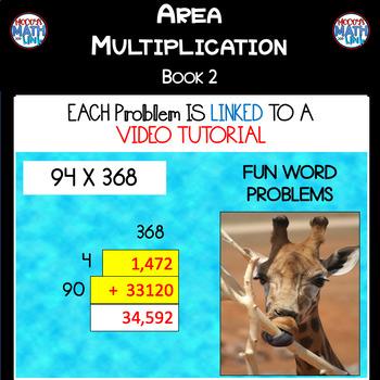 Area Multiplication - Book 2 (ie: 94 x 368)