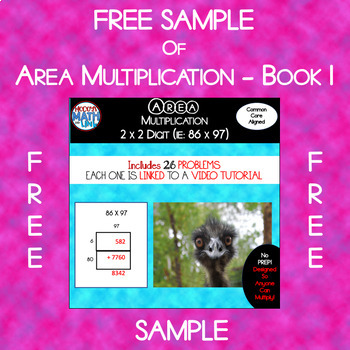Free Sample of Area Multiplication - Book 1