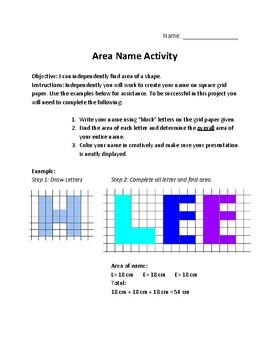 Area Name Activity