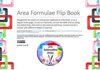 Area Notes Flip Book