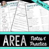 Area Notes and Practice Worksheet