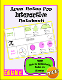 Area Notes for Interactive Notebook