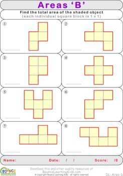 Area 1 (8 distance learning worksheets for Numeracy)