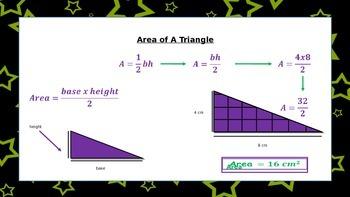 Area Of 2 Dimensional Figures