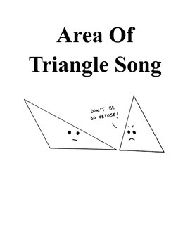 Area Of Triangle- Song with Actions