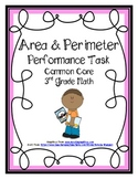 Area Performance Task Common Core Math Assessments