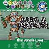 Area & Perimeter Unit Bundle -Geometry Curriculum- Distance Learning Compatible