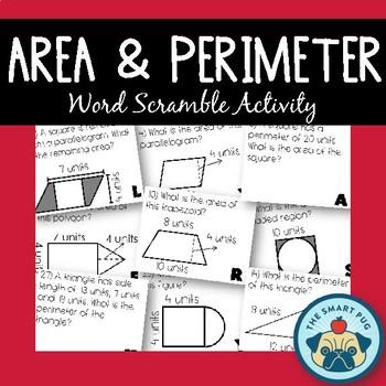 Area & Perimeter Activity - Shapes, Working Backwards, Composite + Shaded Region