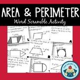 Area & Perimeter Activity - Shapes, Working Backwards, Com