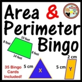 Area and Perimeter Bingo 35 Cards Included!