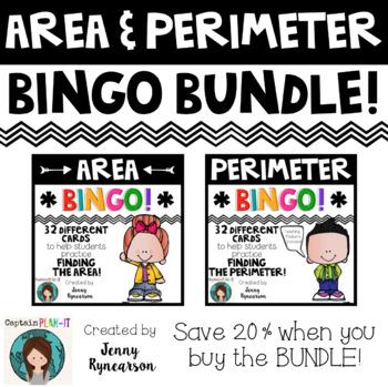 Area & Perimeter BINGO Bundle!