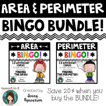Area & Perimeter BINGO Bundle!